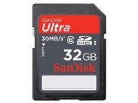 32GB SanDisk Ultra SDHC SD Card Class 10 45MB/S