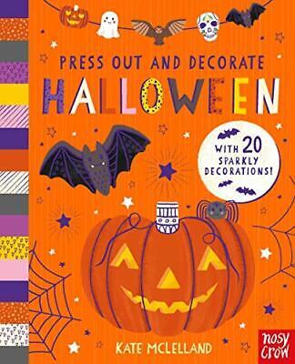 Prensa Out Y Decorar: Halloween Por Kate Mclelland,Nuevo Libro,Libre Rápido
