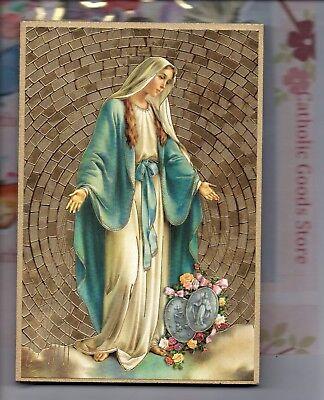 Lady Mosaik (Unsere Lady der Wundertätige Medaille Goldfolie Mosaik Plakette 4 X 6)