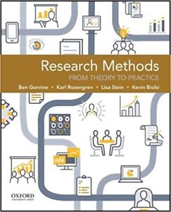 Research Methods: From Theory to Practice - Gorvine Rosengren