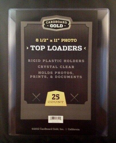 100 8.5x11 Ultra CBG Premium Pro Hard Rigid Toploaders Photo Topload Holders