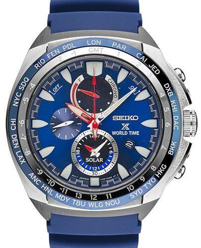 *BRAND NEW* Seiko Men's Blue Silicone Strap Stainless Steel Case Watch SSC489