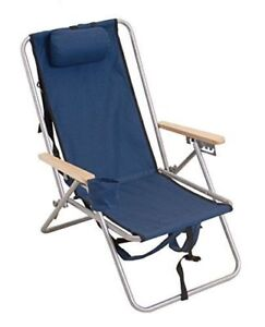 Rio Brands Wear-Ever Backpack Chair, Blue