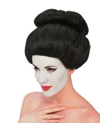 Asian Japanese Geisha China Chinese Black Hair Bun Wig Adult Womens - Geisha Wigs