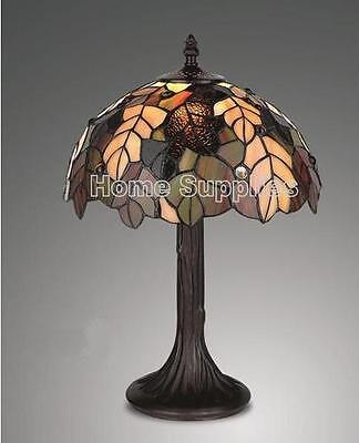 HARVEST TIFFANY STYLE STAINED GLASS TABLE LAMP 12