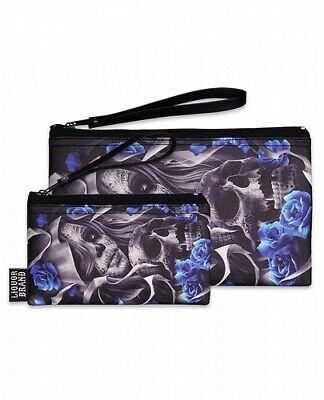 ZOMBIE OWL COIN PURSE wallet pouch bag dead bird kawaii gothic lolita punk U3