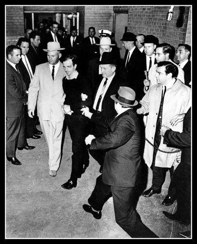 Jack Ruby Shoots Lee Harvey Oswald Photo 8X10 1963 Kennedy Assassination