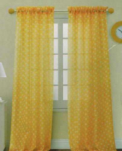 Polka Dot Sheer Curtains Ebay
