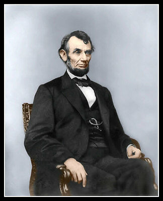 Abraham Lincoln #4 Photo 8X10 - President COLORIZED - Buy Any 2 Get 1 FREE