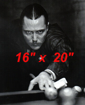"Christopher Walken~Playing Pool~Pool Hall~Billiards~Shooting Pool~16""x20"" Photo"