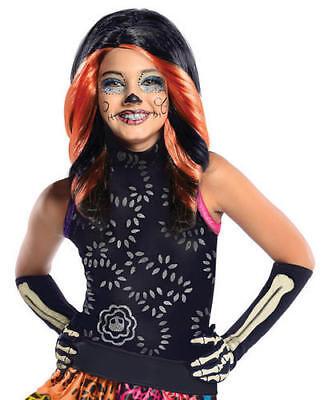 Skelita Calvaeras Monster High Wig Girls Fancy Dress Halloween Costume Accessory - Skelita Halloween Wig