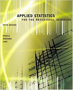 Applied Statistics for the Behavioral Sciences West Island Greater Montréal image 1