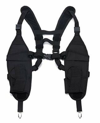 Universal Double Radio Shoulder Harness Holster Chest Holder Vest Two Way Radio