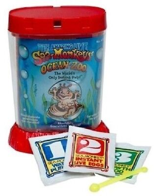 Amazing Live Sea Monkeys Ocean Zoo Marine Monkey Tank Aquarium Habitat