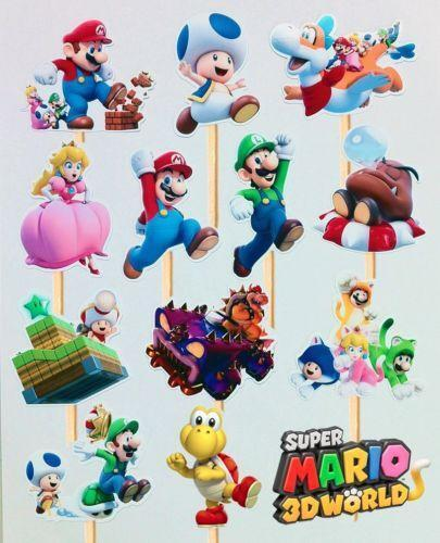 Mario Brothers Cake Toppers Ebay