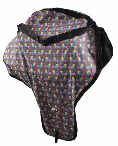 Showman UNICORN Printed Western SADDLE CARRY CASE with Strap