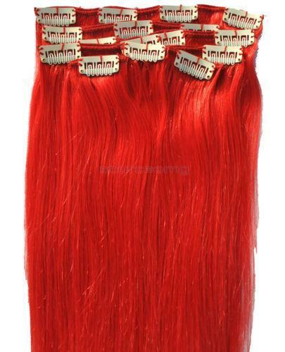 Bright Red Hair Extensions Human Hair 13