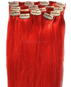 Red human hair extensions ebay bright red human hair extensions pmusecretfo Image collections