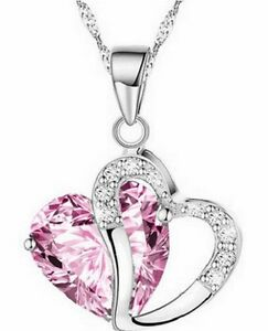 CH-Fashion-Women-Heart-Crystal-Rhinestone-Silver-Chain-Pendant-Necklace-Jewelry