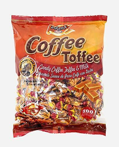 Milk And Coffee Toffee Soft Candies 100 count | Caramelo Suave de Café con Leche