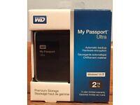Western Digital My Passport Ultra 2TB USB 3.0 Portable External Hard Drive NEW