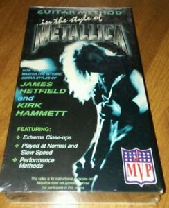 Guitar Method In The Style of Metallica VHS tape