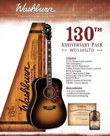 washbnurn 130th anerversary lmtd adition 6string country & blues acoustic guitar
