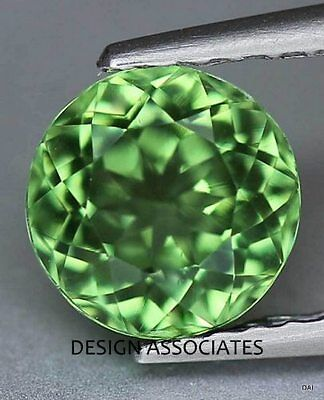 APATITE 4 MM ROUND CUT ALL NATURAL CHROME GREEN COLOR