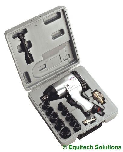 """Sealey Tools SA2/TS SA2 1/2"""" Air Impact Wrench Gun Nut Runner + Metric Sockets"""