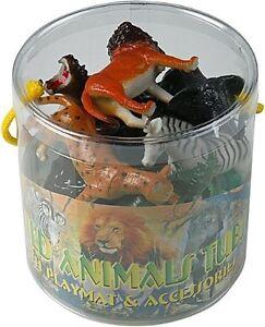 Plastic Wild Zoo Yard Animals Model Figure Kids Toys Both Indoor/Outdoor Play