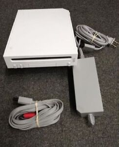 Nintendo Wii System - CONSOLE ,  AC Adapter,  AC Cables & Manual