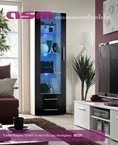 glasregal beleuchtet m bel wohnen ebay. Black Bedroom Furniture Sets. Home Design Ideas