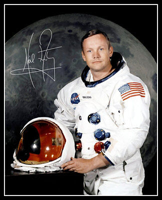 Neil Armstrong Autographed Repro Photo 8X10 - NASA Apollo 11 Astronaut
