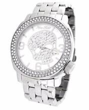 Marc Ecko Unisex Silver Iced Watch With Silver skull swarovski Stanmore Marrickville Area Preview