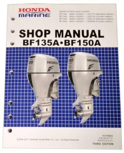 Honda Outboard Manual For Service Repair On Your Marine