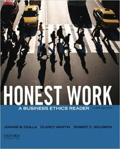 Honest Work - PHIL2830 Business Ethics