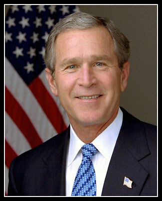George W Bush Photo 8X10 - President Official Portrait Republican