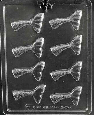 MERMAID TAIL CHOCOLATE CANDY MOLD DIY BIRTHDAY PARTY FAVORS CUPCAKE TOPPER Birthday Party Chocolate Favors
