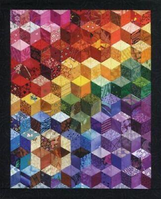 Cascading Rainbows Paper Pieced Quilt Pattern Beginner Level Foundation Piecing - Paper Pieced Quilt Patterns