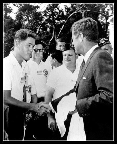 John F Kennedy Bill Clinton 1963 Photo 8X10 - Buy Any 2 Get 1 FREE