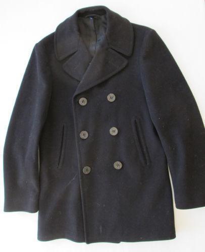 Navy Issue Pea Coat | eBay