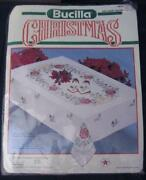 Stamped Tablecloth Christmas
