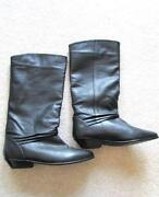 Black Leather Knee High Boots UK 7