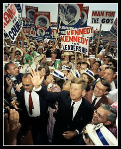 John Kennedy Photo 8X10 Democratic Convention 1960 Los Angeles President