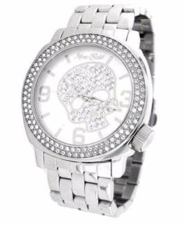 Marc Ecko Unisex Silver Iced Watch With Silver skull swarovski Kogarah Rockdale Area Preview