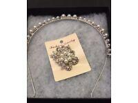 Tiara and brooch