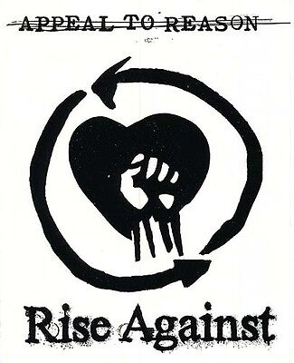 Rise Against Appeal To Reason RARE promo sticker (black) '08