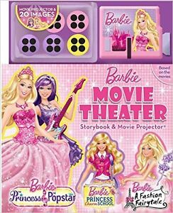 ▀▄▀Barbie Movie Theater Storybook with Movie Projector