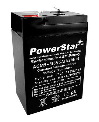 6V 5AH SLA Battery for Abbott Laboratories PCA SYRINGE PUMP