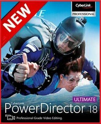 CyberLink PowerDirector Ultimate 18full version✅life time LicenseFast deli